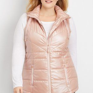 MAURICES Puffer Vest Rose Gold Size XXL Womens